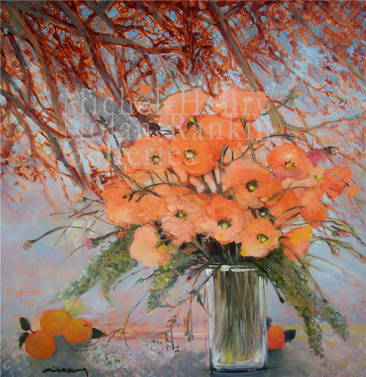 "Les Poppies de Jean-Marie| NR3894 | 100cm x 100cm: 39.5"" x 39.5"" 