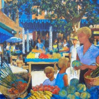 sur le petit Marche d'Aix en Provence | Pierre Neveu | Nolan-Rankin Galleries - Houston
