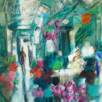 Marche aux fleurs | 9 Figure | Conchita Conigliano | Nolan-Rankin Galleries - Houston