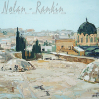 NR5482 Sur les toits de Jerusalem 20 Marine: 28.75 x 19.833 inches Renée THÉOBALD Nolan-Rankin Galleries - Houston