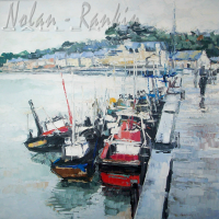 NR5504 Port breton-100cm x 100cm: 39.375 x 30.375 inches Renée THÉOBALD Nolan-Rankin Galleries - Houston
