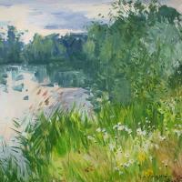 Matin rose du bord du Ruisseau   Paul Jean Anderbouhr   Nolan-Rankin Galleries - Houston