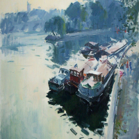 La peniche du Pont des Arts | Paul Jean Anderbouhr | Nolan-Rankin Galleries - Houston