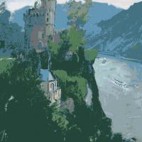 Vieus Chateau au bord du Rhin   Paul Anderbouhr   Nolan-Rankin Galleries - Houston