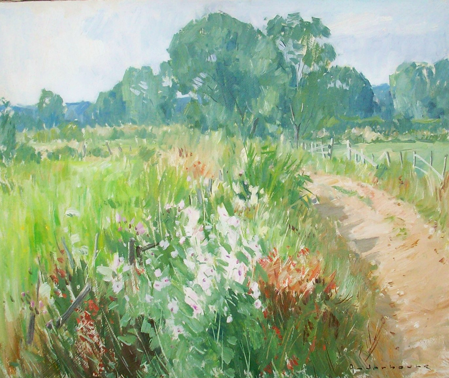 Chemin de campagne en Loir et cher | Paul Jean Anderbouhr | Nolan-Rankin Galleries - Houston