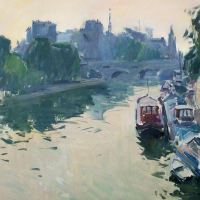 La Seine - Rive Gauche | Paul Jean Anderbouhr | Nolan-Rankin Galleries - Houston
