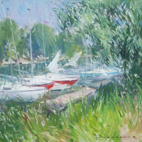 Bord de marne Creteil   Paul Jean Anderbouhr   Nolan-Rankin Galleries - Houston