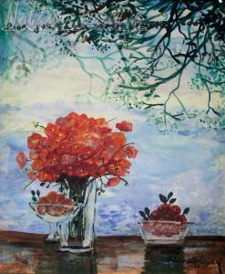 Michel-Henry   oil on paper   Nolan-Rankin Galleries - Houston
