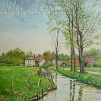 Spring rain - Bec Helloin | Manes Lichtenberg | Nolan-Rankin Galleries - Houston