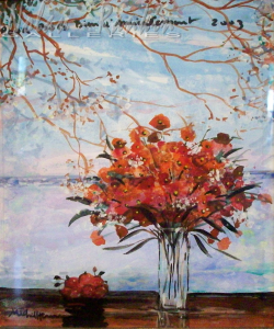 Michel-Henry   Gouache on paper   bouquet (bob)   8 X 9 inches   Nolan-Rankin Galleries - Houston