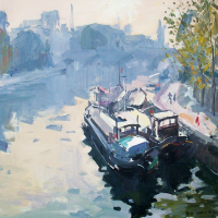 Matin rose vers le Pont Neuf | Paul Jean Anderbouhr | Nolan-Rankin Galleries - Houston