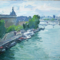 La Seine | Paul Jean Anderbouhr | Nolan-Rankin Galleries - Houston