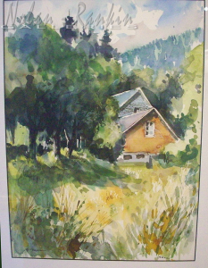 original watercolor | Alsace | Pierre Neveu | Nolan-Rankin Galleries - Houston