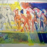 lithograph | En Course | Paul Ambille | Nolan-Rankin Galleries - Houston