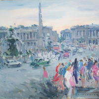 Place de la concorde | Paul Jean Anderbouhr | Nolan-Rankin Galleries - Houston