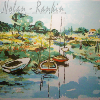 lithograph | Boats at rest | Renee Theobald | Nolan-Rankin Galleries - Houston