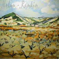 lithograph | Devant les Vignes | Renee Theobald | Nolan-Rankin Galleries - Houston