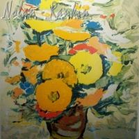lithograph | Bouquet Orange | Renee Theobald | Nolan-Rankin Galleries - Houston