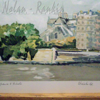 lithograph | Notre Dame | Renee Theobald | Nolan-Rankin Galleries - Houston