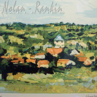 lithograph | Petit Village en Bourgogne | Renee Theobald | Nolan-Rankin Galleries - Houston