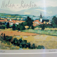 lithograph | Village en Alsace | Renee Theobald | Nolan-Rankin Galleries - Houston
