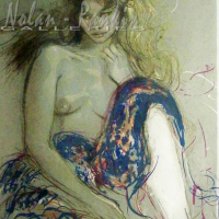 Pecnard | Femme Tricolore | lithograph | 21.5 X 28 inches | Nolan-Rankin Galleries - Houston