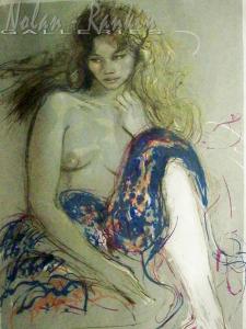 Pecnard   Femme Tricolore   lithograph   21.5 X 28 inches   Nolan-Rankin Galleries - Houston