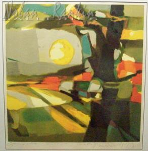 Sur le Champs Soleil Noble (1996)   Lithograph - EA   Marcel Mouly   Nolan-Rankin Galleries - Houston