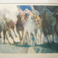 "Paul Ambille lithograph "" Galop"""