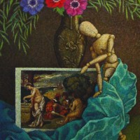 "Hommage au Titon NR1455 20 Figure: 28.75"" x 23.5"" Marie-Amelie Choi Oil on Canvas   Nolan-Rankin Galleries - Houston"