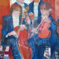 La Pose NR2616 30 Figure: 36.25 in. x 28.75 in. Paul Ambille - 2003 Oil on Canvas | Nolan-Rankin Galleries - Houston