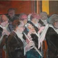 "Les Bois NR2619 40 Figure: 39.5"" x 31.75"" Paul Ambille Oil on Canvas | Nolan-Rankin Galleries - Houston"