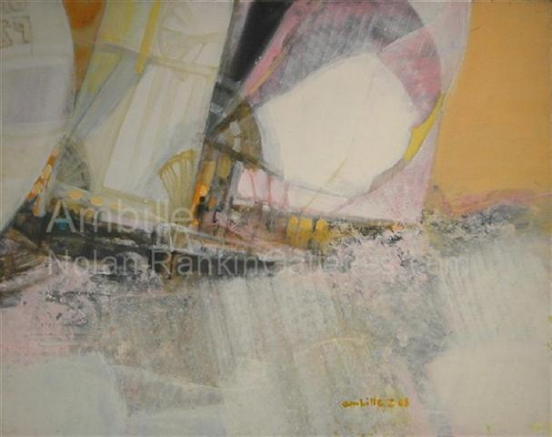 """Dans les Vagues NR2621 30 Figure: 36.25"""" x 28.75"""" Paul Ambille Oil on Canvas   Nolan-Rankin Galleries - Houston"""