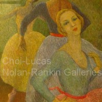 "Les Trois Graces NR3369 60 Marine: 51.25"" x 31.75"" Marie-Amelie Choi Oil on Canvas 