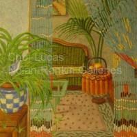 "Interieur NR3373 20 Paysage: 28.75"" x 21.25"" Marie-Amelie Choi Oil on Canvas   Nolan-Rankin Galleries - Houston"