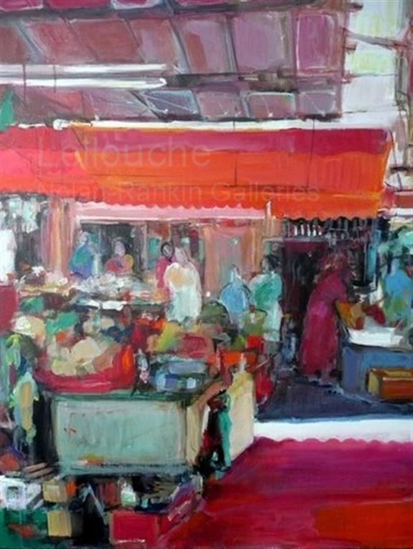 "Les Chariots | NR3563 | 30 Figure: 36.25"" x 28.75"" | Michele Lellouche | Oil on Canvas | Nolan-Rankin Galleries - Houston"