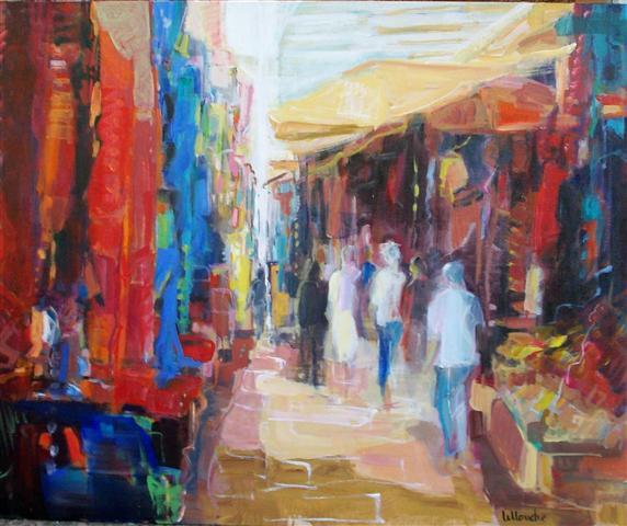 Marche Colore   NR3739   25 Figure: 31.75 x 25.5 in.   Michele Lellouche   Oil on Canvas   Nolan-Rankin Galleries - Houston